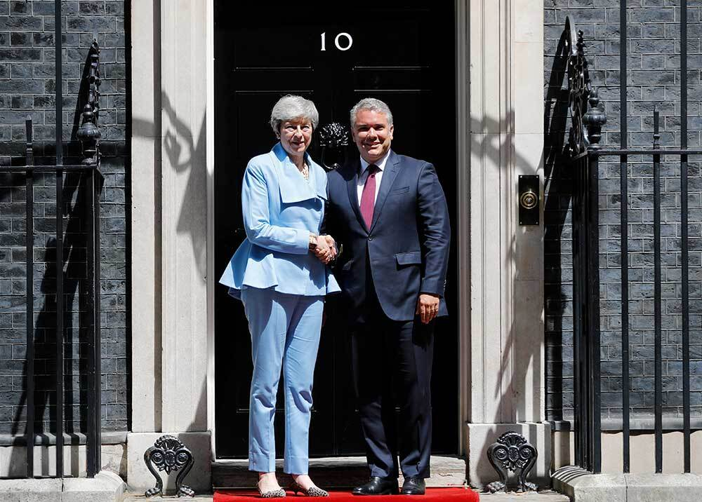 336578_Blu Radio // Theresa May - Iván Duque // Foto: AFP