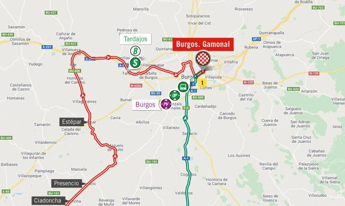Así será la etapa 2 de la Vuelta a España 2021.