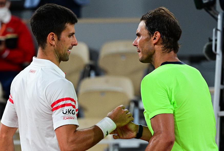 Novak Djokovic y Rafael Nadal son referentes del tenis mundial.