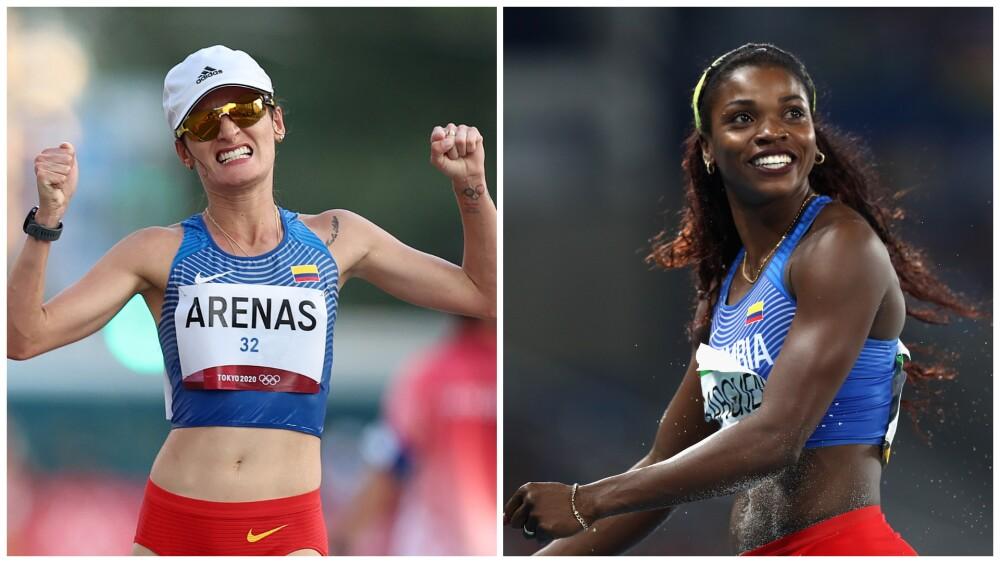 Sandra Lorena Arenas y Caterine Ibargüen, en Juegos Olímpicos