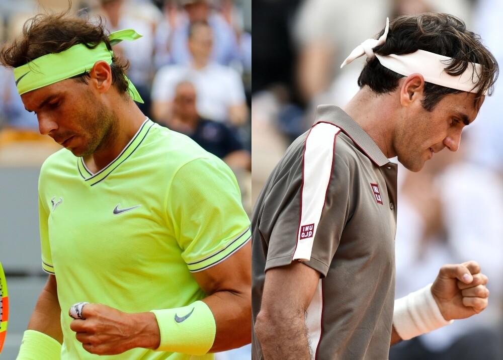 335541_BLU Radio. Rafael Nadal y Roger Federer // Foto: AFP
