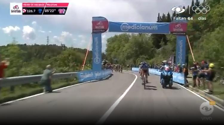 Primer premio de montaña etapa 12 del Giro de Italia.