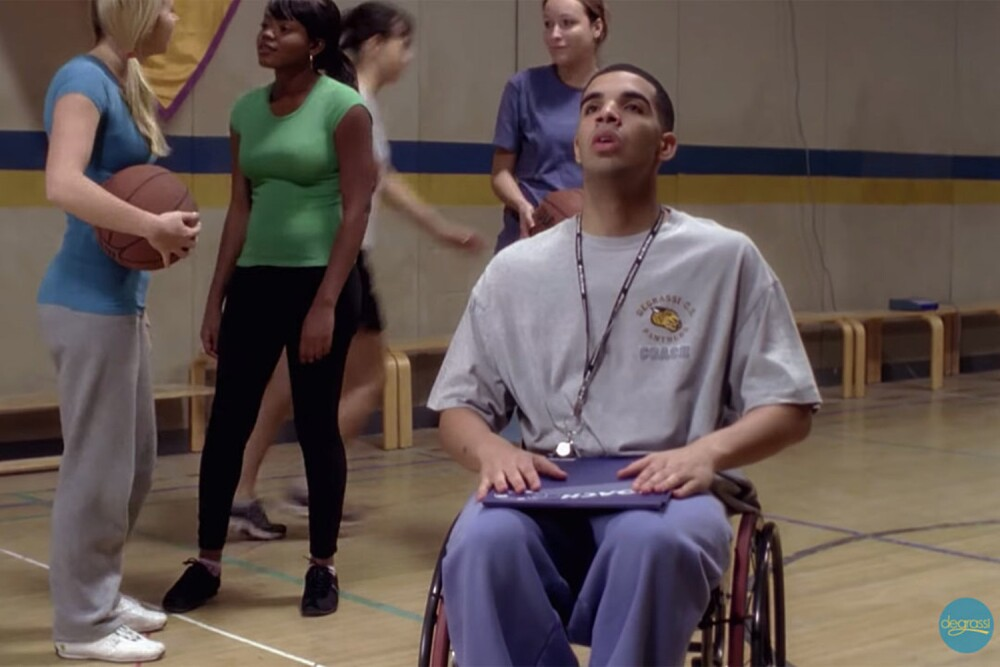 Drake interpretando a Jimmy Brooks en la serie canadiense 'Degrassi: The Next Generation'