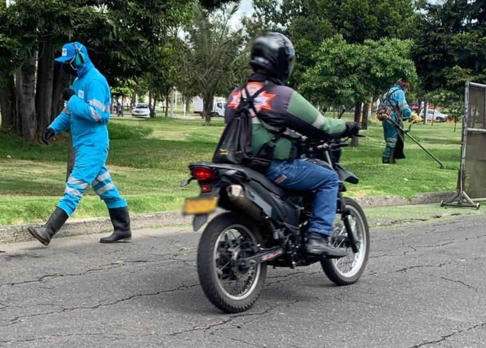 Motociclista en Bogotá