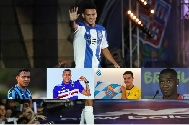 317097_Luis Díaz, Luis Fernando Muriel, Jeison Murillo, Bernardo Espinosa y Cristian Zapata