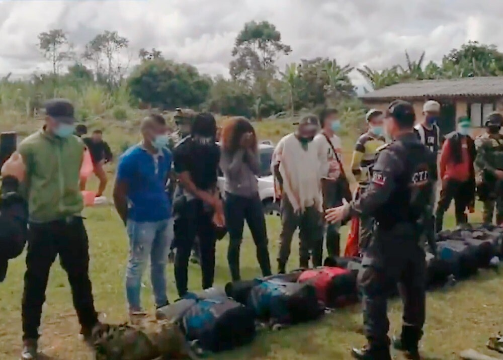 Operativo contra disidencia de 'Márquez' y 'Santrich' en Cauca / Foto: captura video MinDefensa