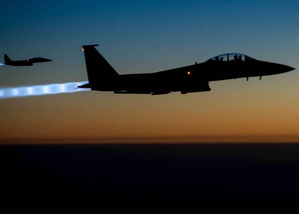 351700_Bombarderos F-15 // Fotos: AFP, imagen de referencia