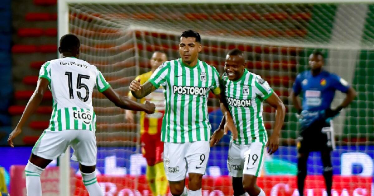 Jefferson Duque habló en cancha, marcó triplete y Nacional le ganó 5-2 al Pereira, en el Atanasio