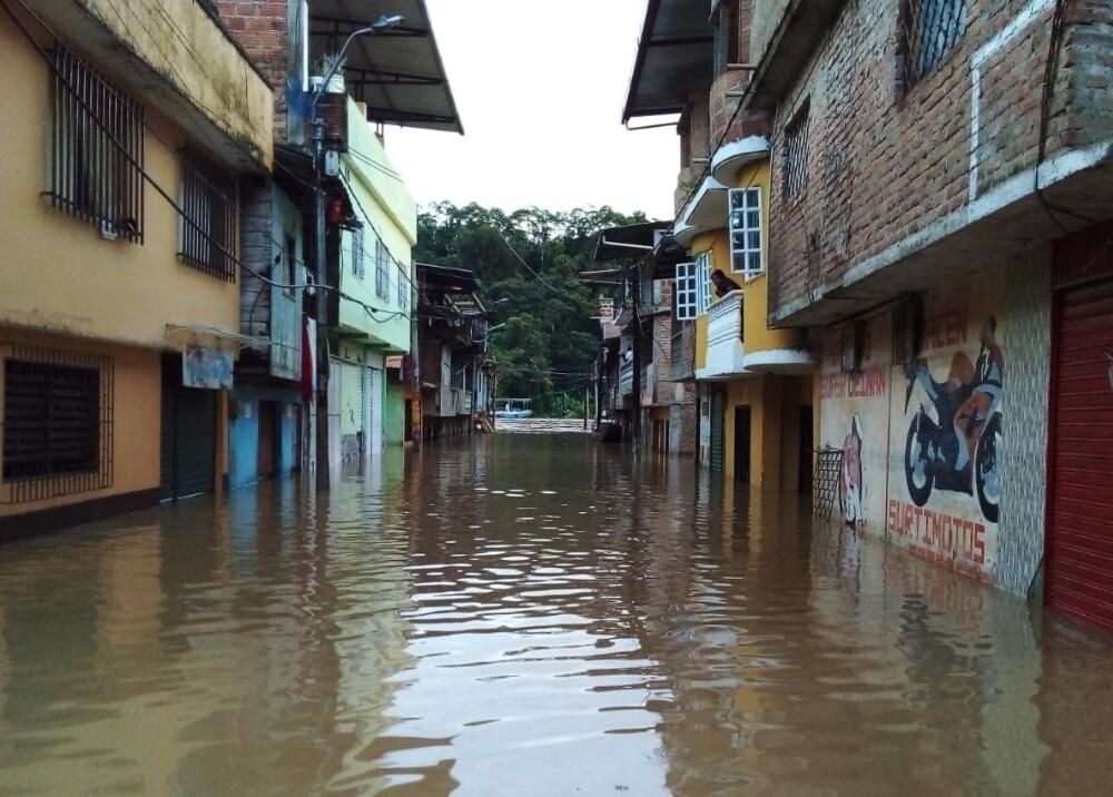 Inundación en Nariño.