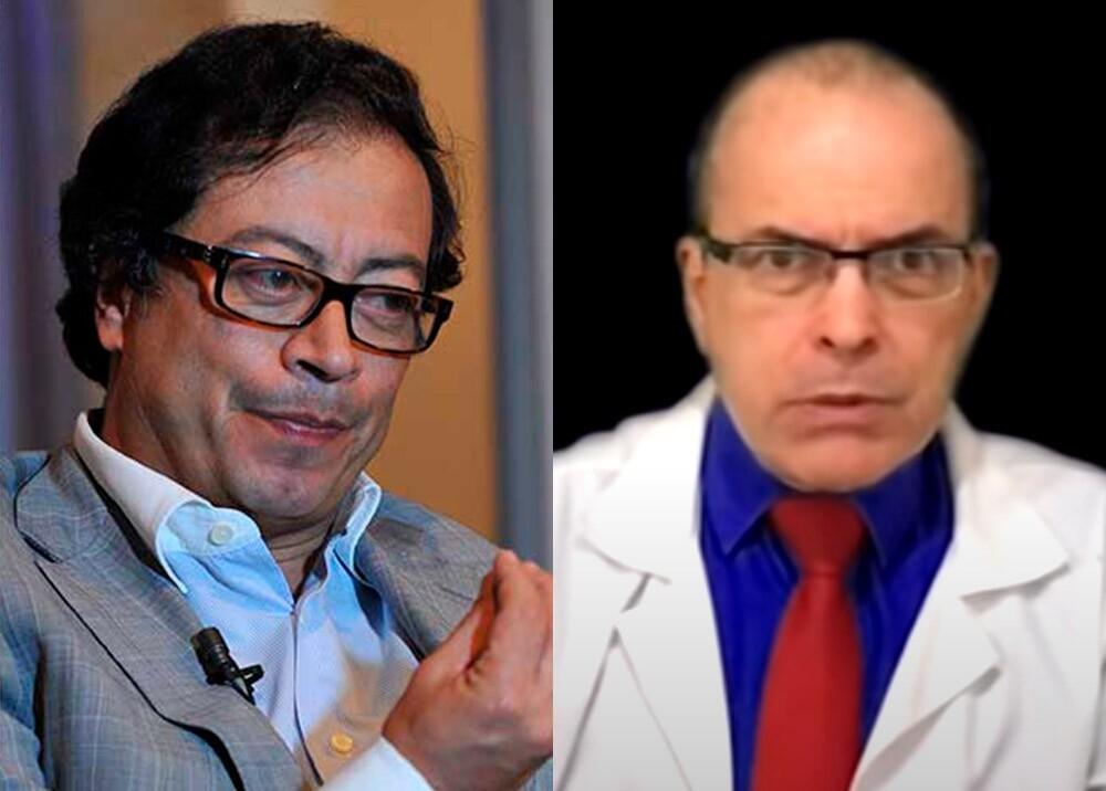 370872_Gustavo Petro y Raúl Salazar // Fotos: AFP, YouTUbe 'Dr RAUL SALAZAR'