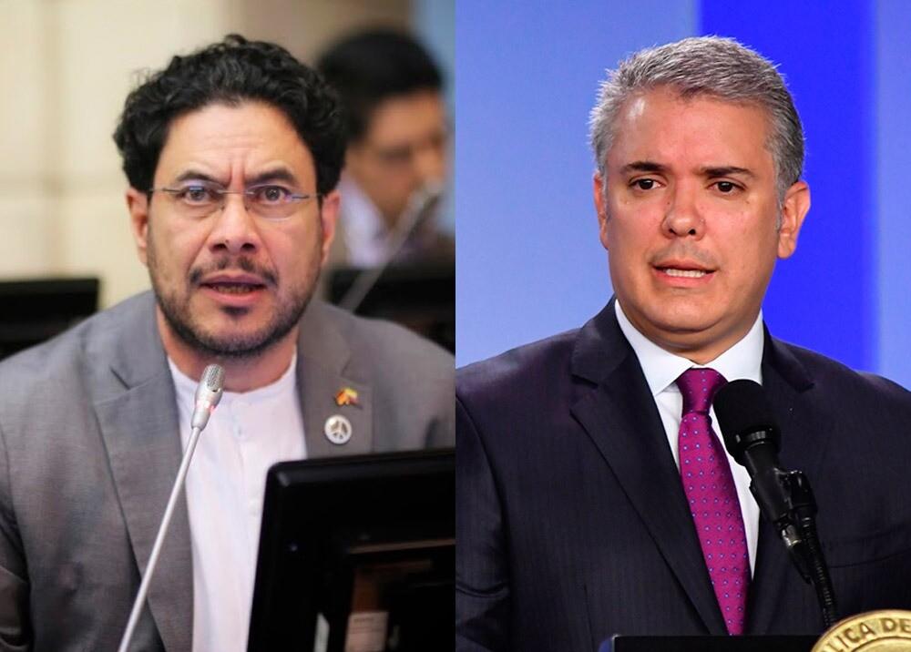 374144_Iván Cepeda e Iván Duque // Fotos: Senado - Presidencia