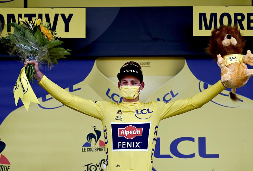 Mathieu Van der Poel es el líder del Tour de Francia 2021.