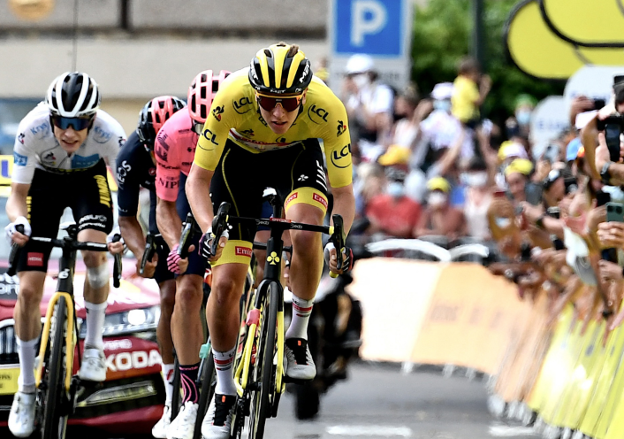 Tadej Pogacar es líder del Tour de Francia tras la etapa 11.