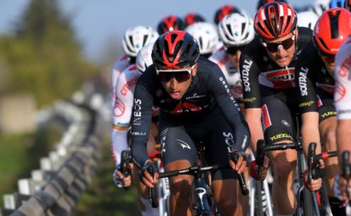 Egan Bernal en la etapa 3 de la Estrella de Bessèges.