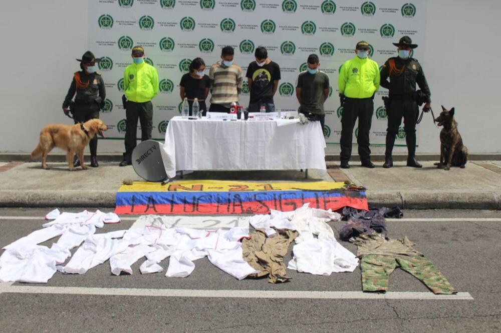Capturados en Ibagué, Tolima, por actos vandálicos