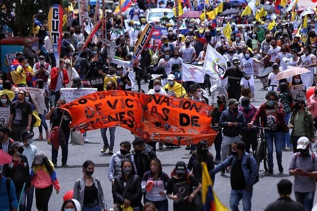 Marchas en Colombia por paro nacional