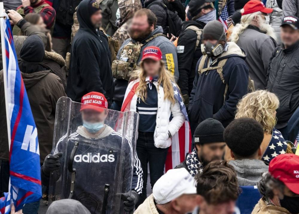 Seguidores de Donald Trump durante protestas