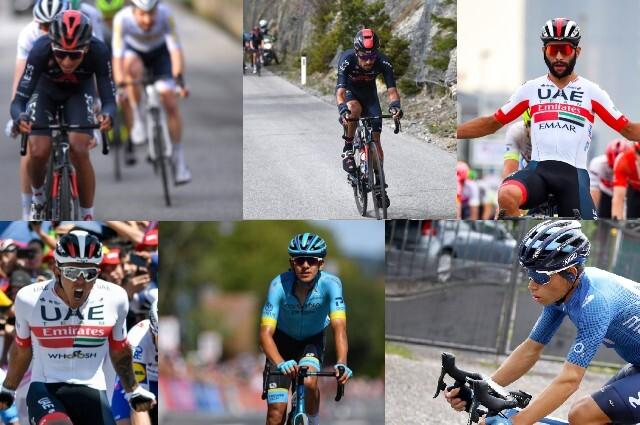 Egan Bernal, Daniel Martínez, Fernando Gaviria, Juan Sebastián Molano, Harold Tejada y Einer Rubio serán los colombianos en el Giro de Italia 2021.