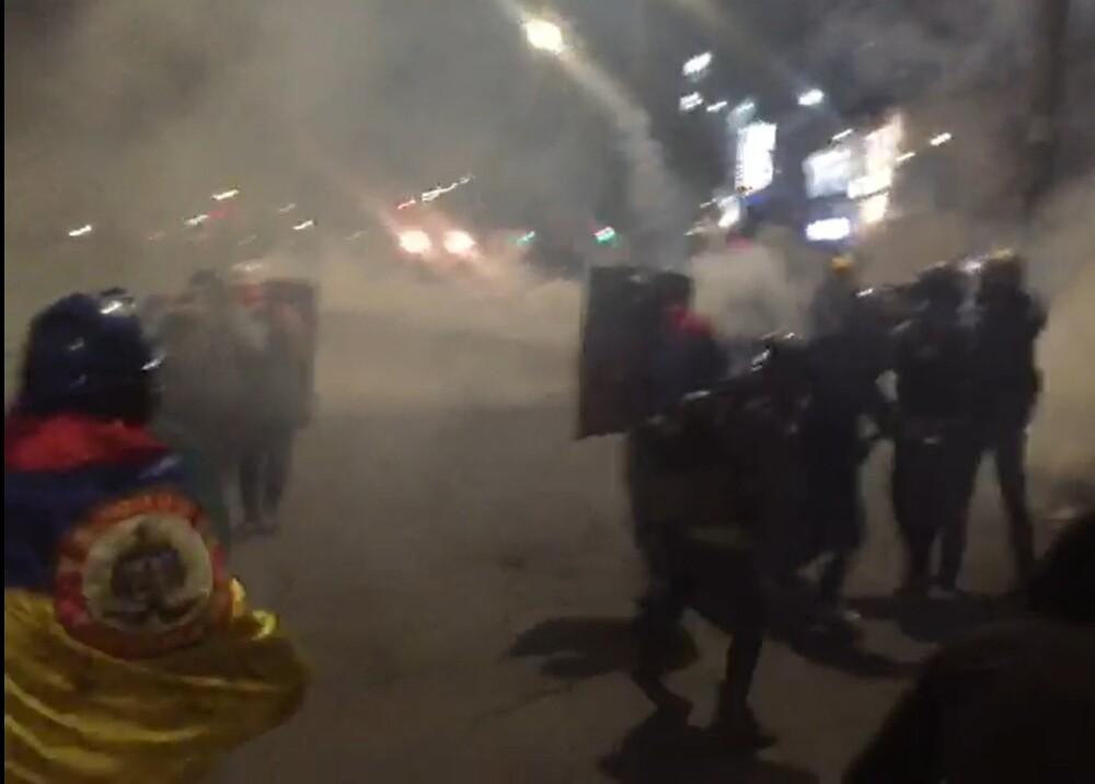Manifestaciones en Suba Bogota Foto captura de video.