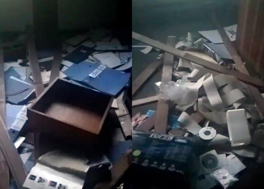 372426_Saqueo y vandalismo en consulado de Venezuela en Bogotá // Foto: capturas video Twitter @jaarreaza