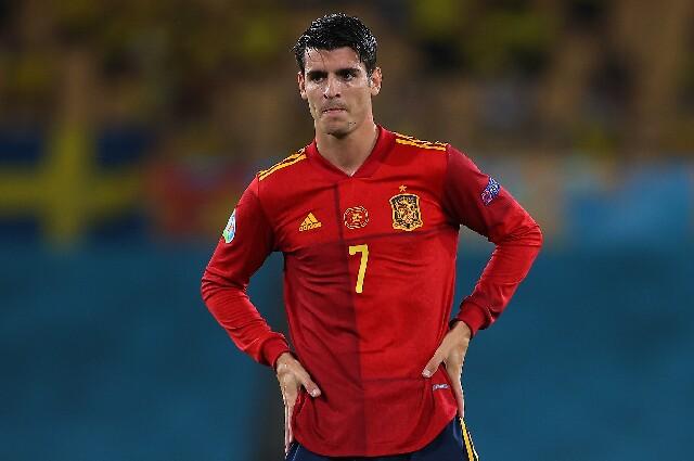 Álvaro Morata, en la Selección de España