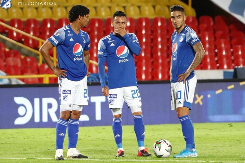 Pereira, Santiago Montoya y Cristian Arango - Millonarios