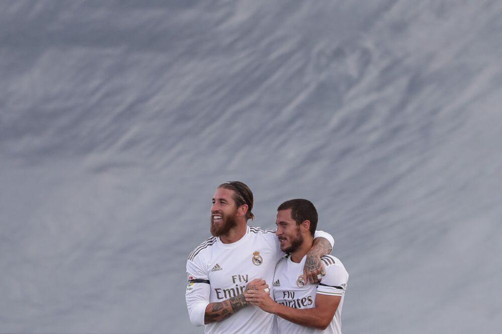 Sergio Ramos y Eden Hazard, jugadores de Real Madrid