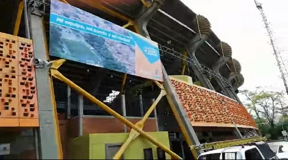 344376_BLU Radio. Pleito entre arrendatario y el Inder por locales del estadio / Foto: Captura de video
