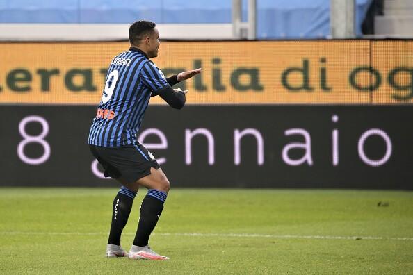 Luis Muriel celebra, Atalanta vs Parma