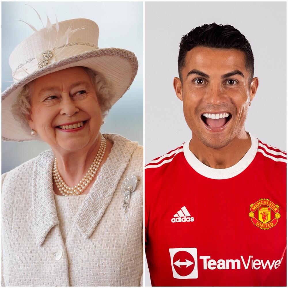 Reina Isabel II y Cristiano Ronaldo. Getty Images.jpg