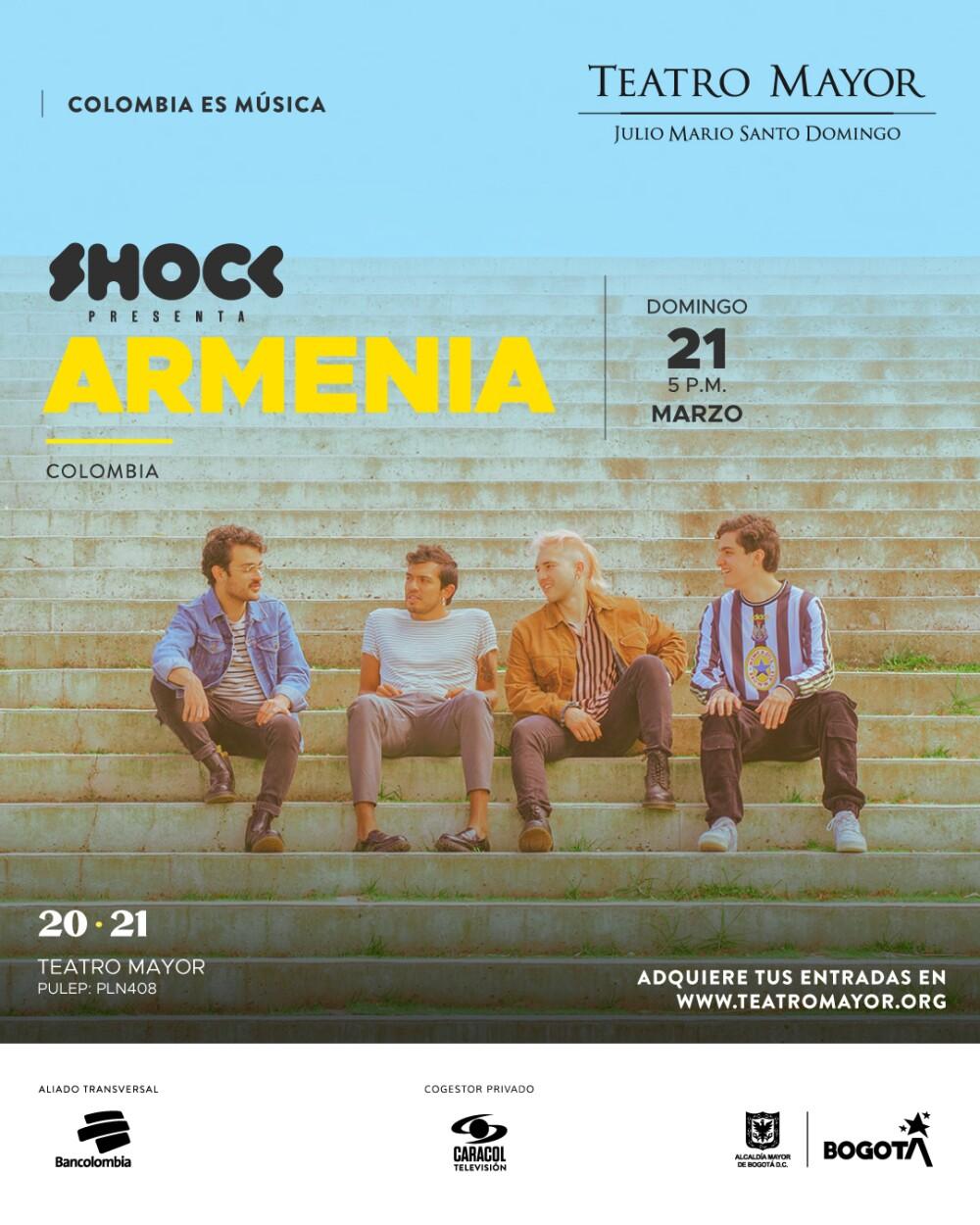 Cartel Armenia en el teatro mayor