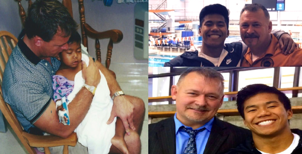 Jerry y su hijo adoptivo Jordan (Juegos Olímpicos)