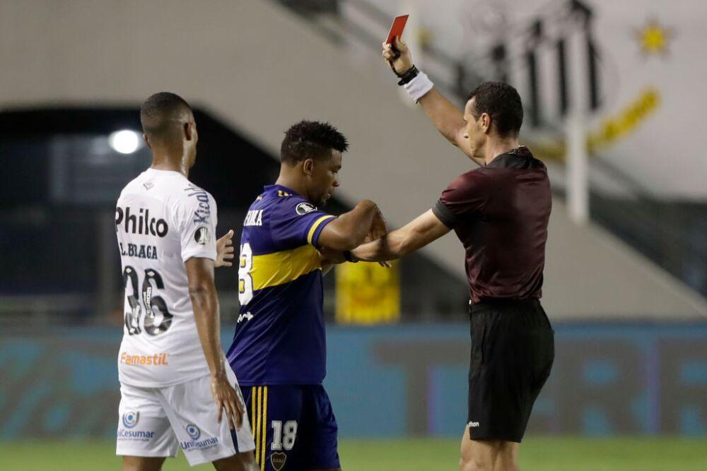 Frank Fabra, expulsión Boca vs Santos
