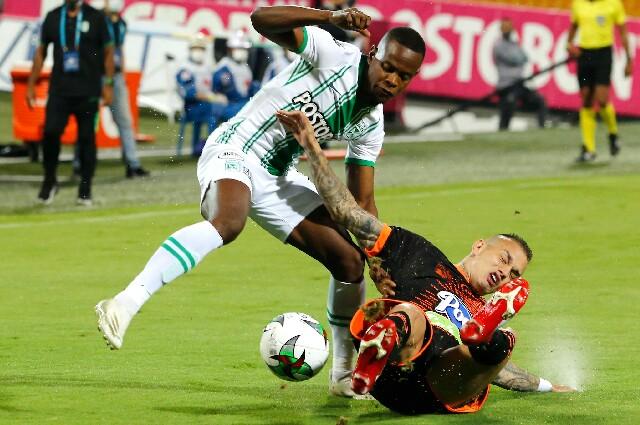 Envigado contra Atlético Nacional, en la Liga colombiana