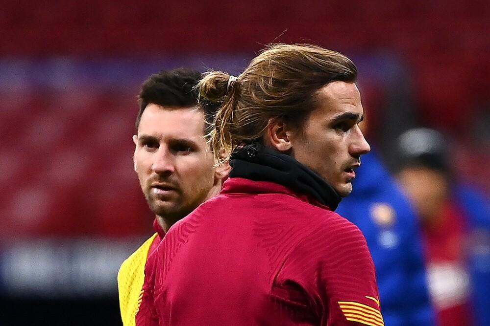 Messi y Griezmann. Foto: AFP