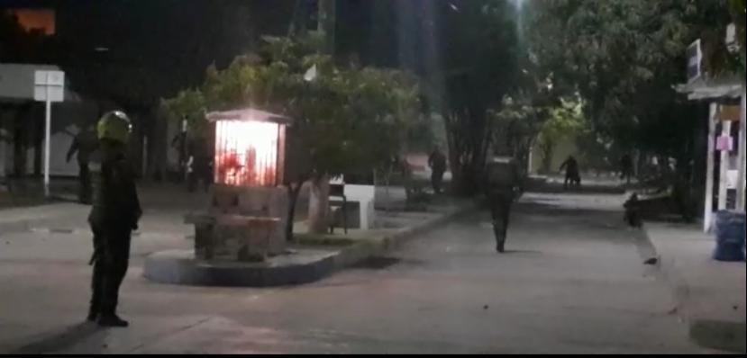 Asonada en Santa Lucía