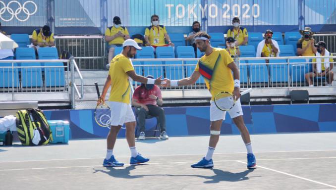 Juan Sebastián Cabal y Robert Farah clasificaron a segunda ronda de los Juegos Olímpicos.