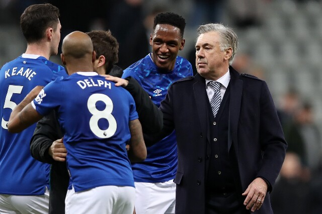 Carlo Ancelotti en Everton