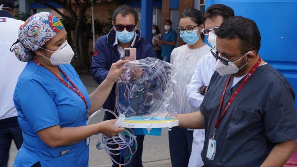 Cascos respiratorios