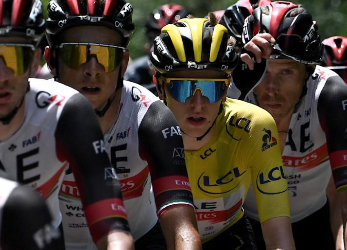 Tadej Pogacar es el líder del Tour de Francia tras la etapa 14.