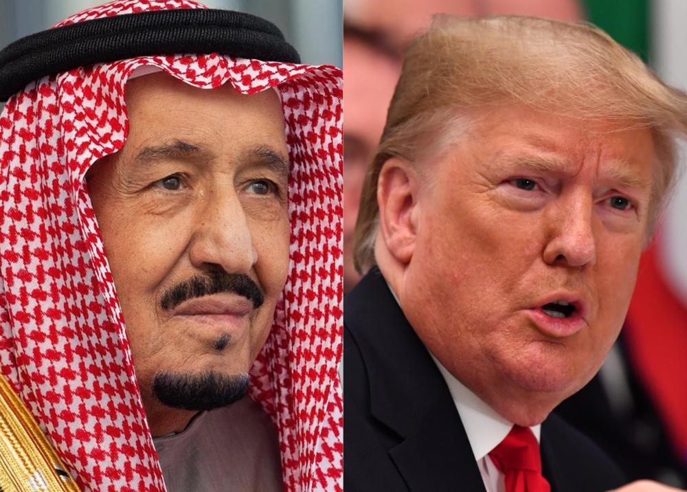 350096_BLU Radio. Salmán bin Abdulaziz y Donald Trump // Foto: AFP