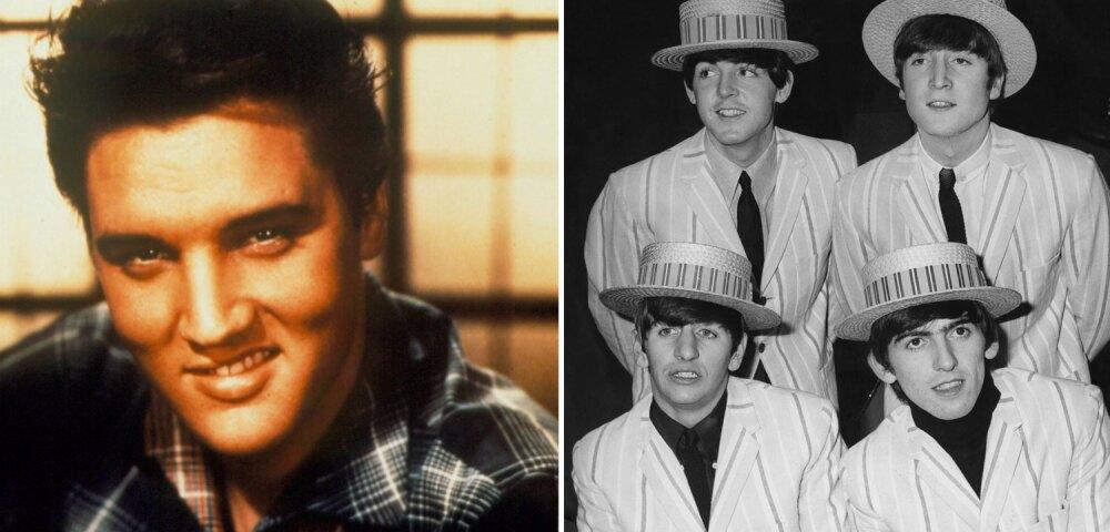 648433_Foto Elvis: Liaison. Foto The Beatles: Ron Case/Keystone/Hulton Archive/Getty Images