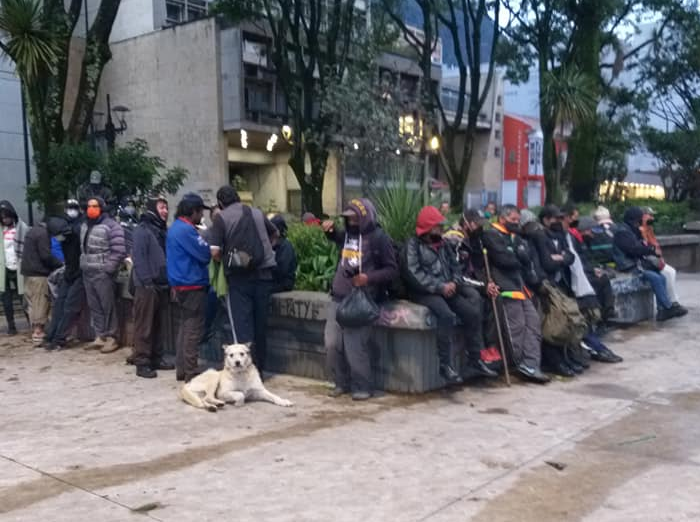 Personas en situación de calle en Bogotá