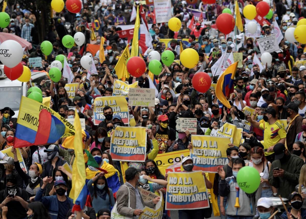 El paro nacional continúa: CUT anunció marchas para este jueves 29 de abril  en todo el país