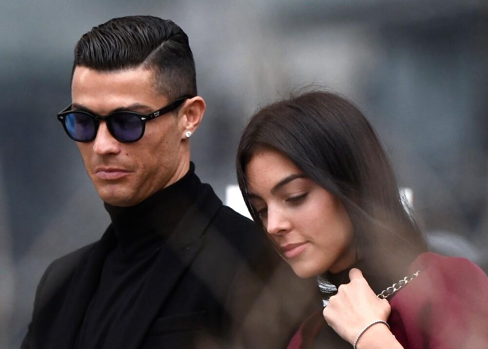 Georgina Rodríguez y Cristiano Ronaldo foto afp.jpg