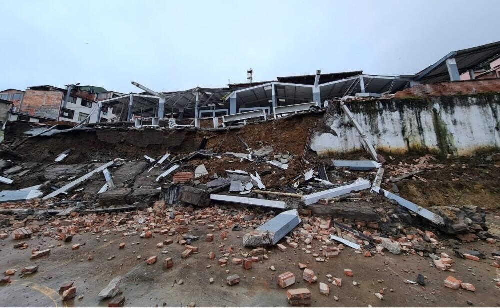 Desplome de la plaza de mercado de Ubalá, Cundinamarca