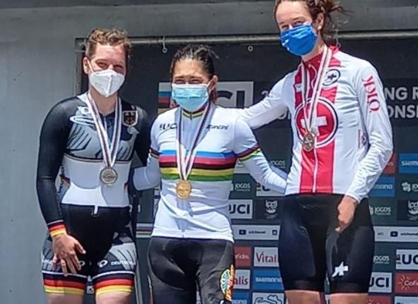 Carolina Munevar logró el oro en  la contrarreloj C2 del Mundial de Paracycling.