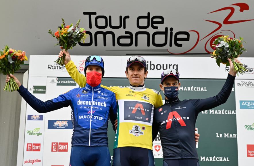 Geraint Thomas se coronó campeón del Tour de Romandía 2021.