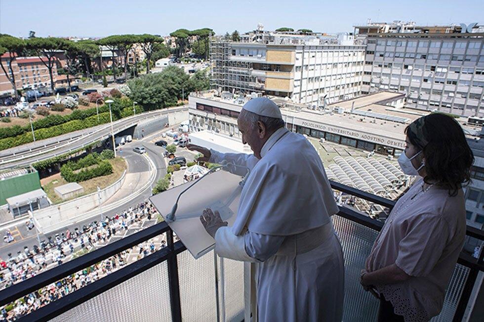 Papa Francisco desde el hospital
