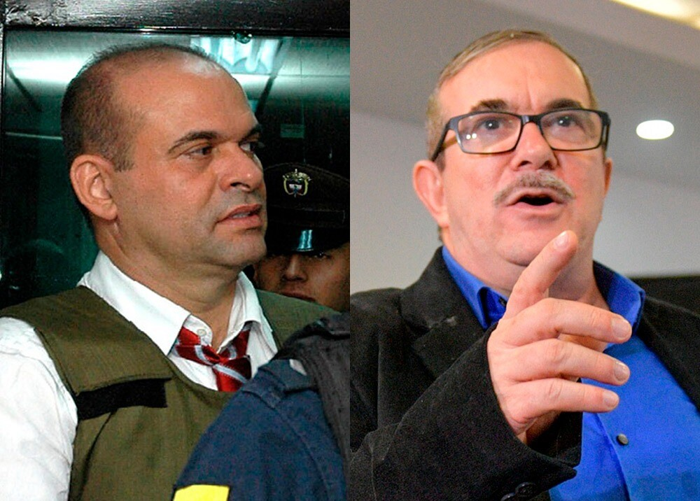 Salvarore Mancuso y Rodrigo Londoño : Fotos AFP.jpeg